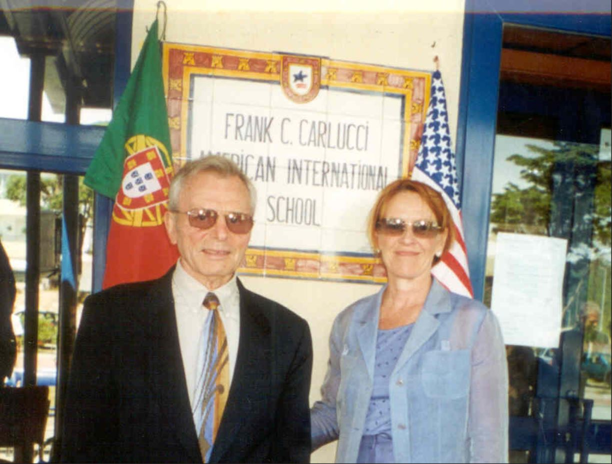 Ambassador Carlucci with his wife at CAISL